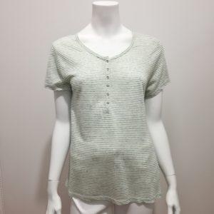 Tee-shirt rayé vert et blanc