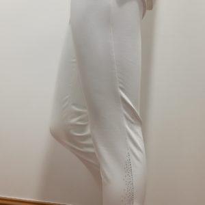 Pantacourt Zerres Blanc avec strass