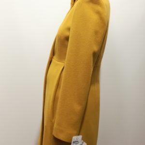 Manteau laine et cachemire Jaune