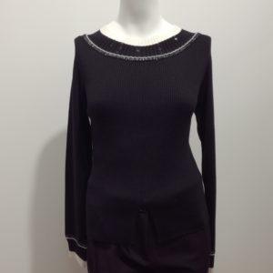 Pull noir et blanc Crea Concept