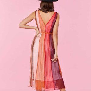 Robe longue en tissu Gaufré